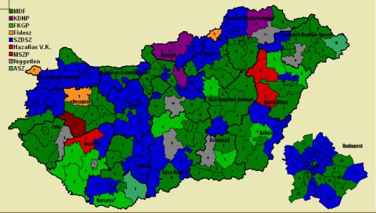 választókerületek térkép Vision Politics Budapest   Adatbázis   Egyéni választókerületek választókerületek térkép